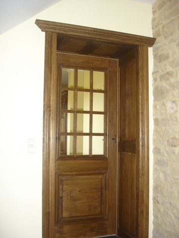 Porte vitr e ch ne massif for Porte interieure vitree ancienne